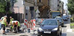 Nowe skrzyżowanie w Łodzi już w remoncie. Sienkiewicza i Nawrot z gigantycznymi korkami. Autobusy MPK opóźnione