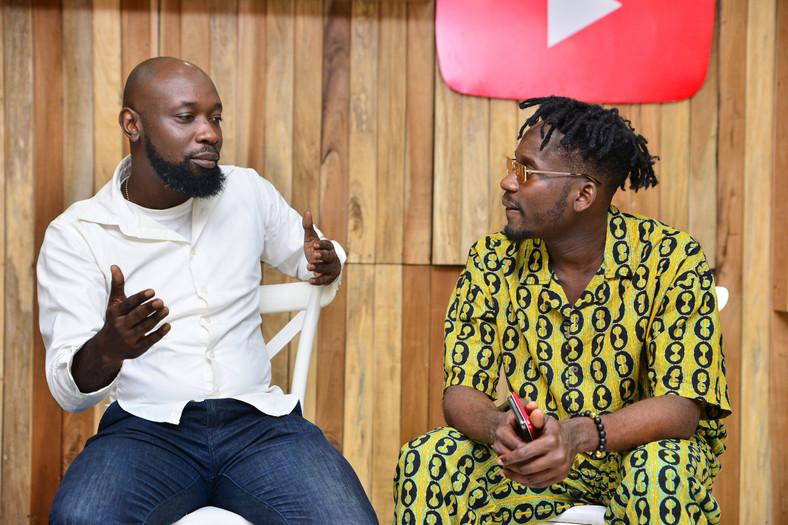 Mr Eazi with Senior Editor, Content at Pulse Nigeria, Ayomide Tayo