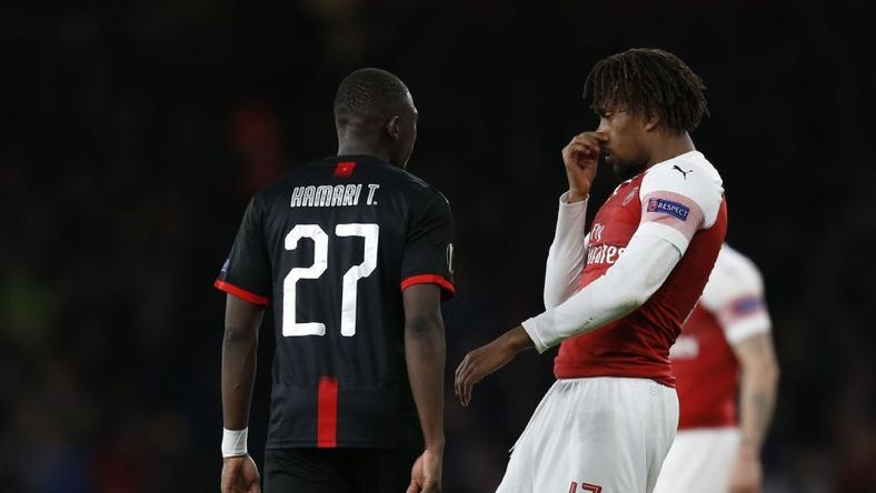 Alex Iwobi held his nose to Hamari Traore during a back and forth and fans have had a lot to say about it (Getty Images)
