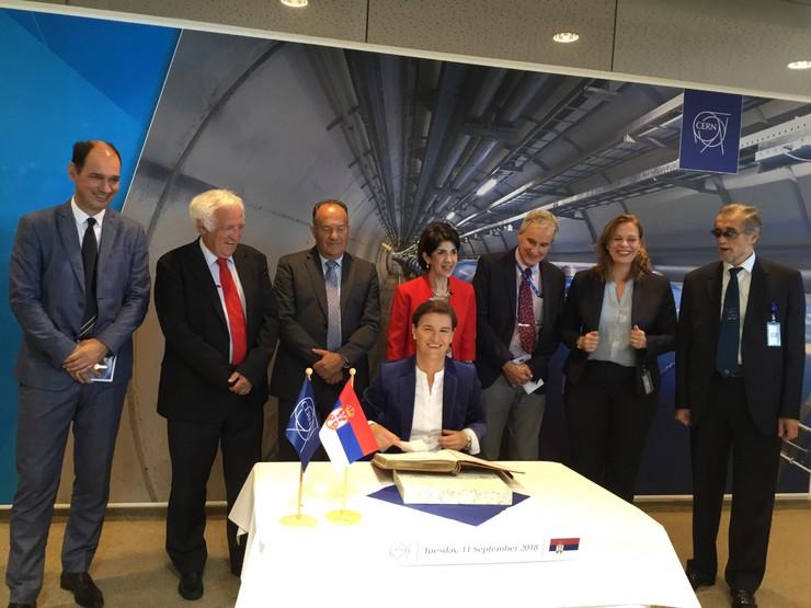 Ana Brnabic, CERN, Tanjug, Vlada Srbije