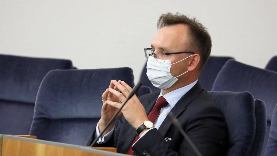Mikołaj Pawlak na posiedzeniu Senatu