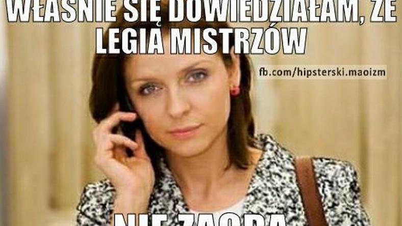 Legia Warszawa została zdyskwalifikowana z rozgrywek Ligii Mistrzów. Zdaniem internautów, Joanna Mucha przejęła się tą wiadomością.