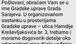 """""""GRAD ZABRANJENOG IMENA"""" Gradska uprava traži naknadu od Fejsbuk stranica koje u nazivu sadrže reč Sarajevo"""