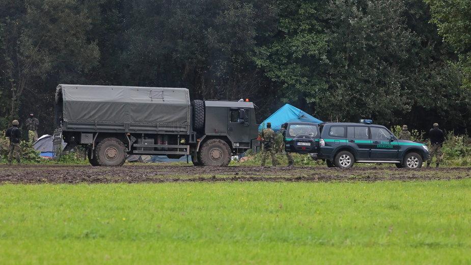 Straż Graniczna: patrol służb białoruskich w czwartek oddał strzały w kierunku polskich żołnierzy