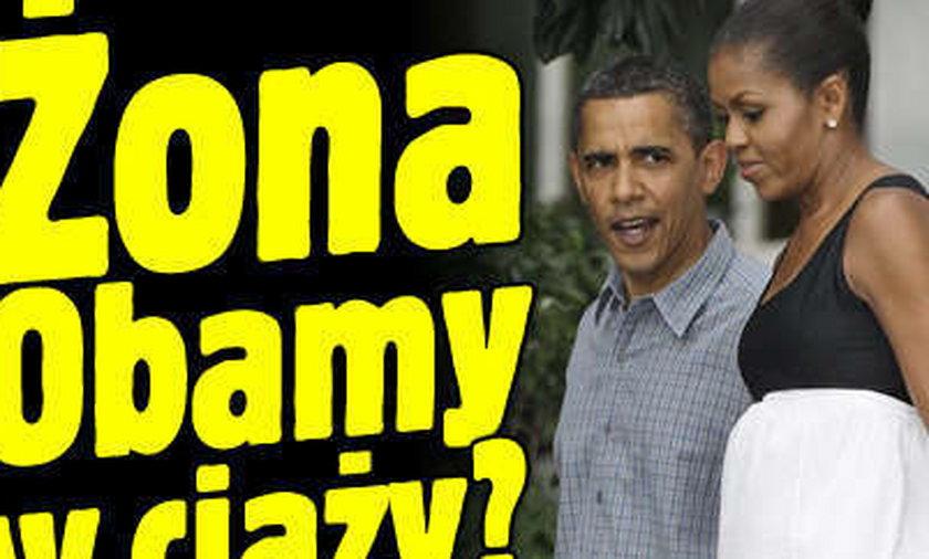 Żona Obamy w ciąży?