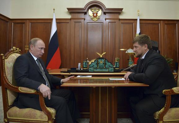 Vladimir Putin i Ramzan Kadirov