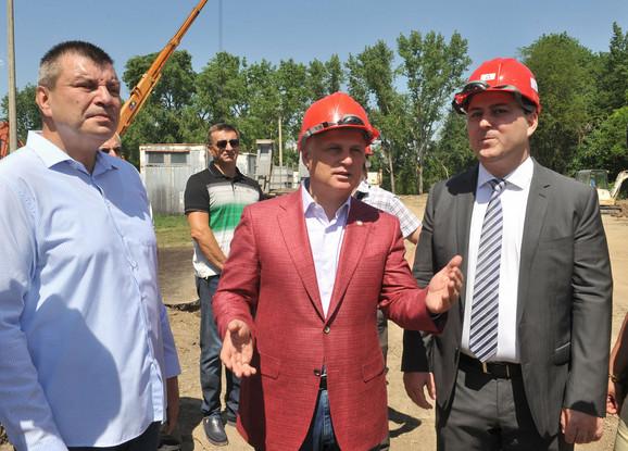 Goran Vesić i Miroslav Čučković u poseti radovima