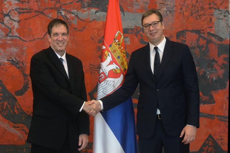 JAHEL VILAN I ALEKSANDAR VUČIĆ foto Zoran Žestić Tanjug Izrael ambasador
