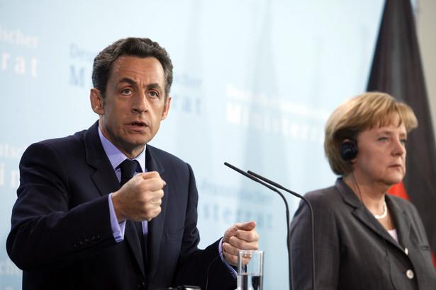 Francja i Niemcy poprą wspólnie kandydaturę obecnego szefa Komisji Europejskiej, Portugalczyka Jose Barroso, który ubiega się o ponowny wybór na to stanowisko - zapowiedzieli dziś prezydent Francji Nicolas Sarkozy i niemiecka kanclerz Angela Merkel. Fot. Bloomberg