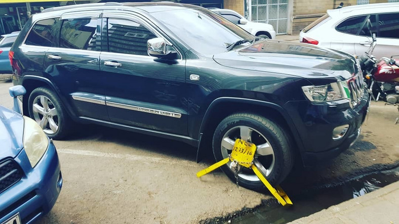 NTV's Salim Swaleh in trouble with 'Kanjo' as his car gets clamped down
