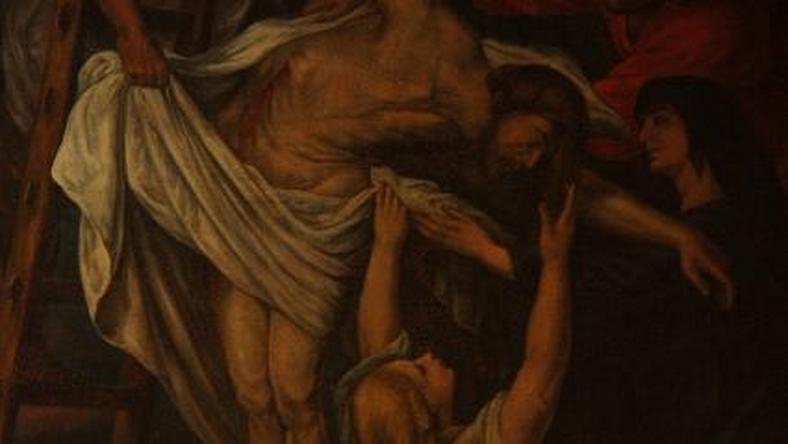 "Obraz Rubensa ""Zdjęcie Chrystusa z krzyża"""
