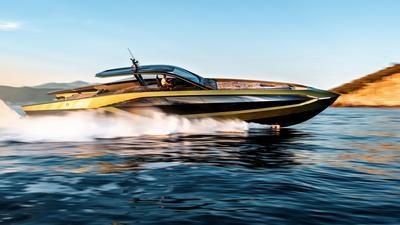 Wodne Lambo już pływa. To łódź Tecnomar wzorowana na Lamborghini Sian FKP 37