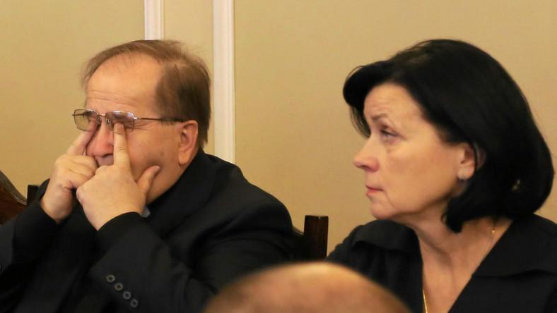 Ojciec Tadeusz Rydzyk i dyrektor finansowy fundacji Lux Veritatis Lidia Kochanowicz
