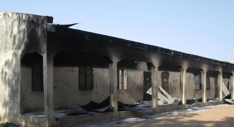A School destroyed by Boko Haram in Yobe