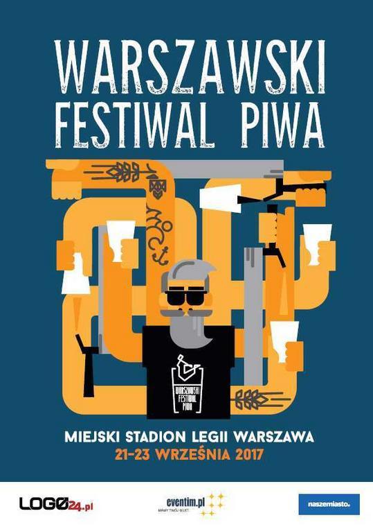 Oficjalny plakat 7. Warszawskiego Festiwalu Piwa