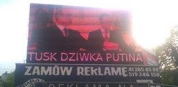 """""""Tusk dziwka Putina"""". Haker włamał się do reklamy!"""