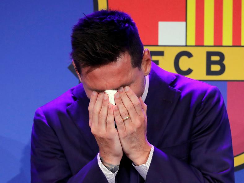 Lionel Messi we łzach podczas pożegnalnej konferencji prasowej