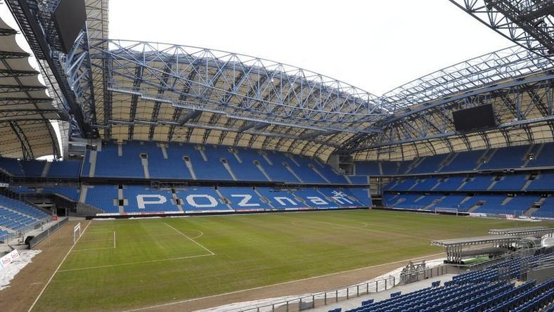Pusty stadion Lecha Poznań
