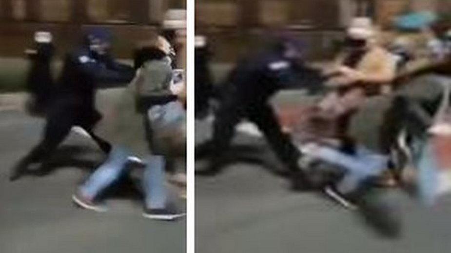 Zaatakował dziennikarki, usłyszał zarzuty - fot. Twitter/ Mateusz Czmiel