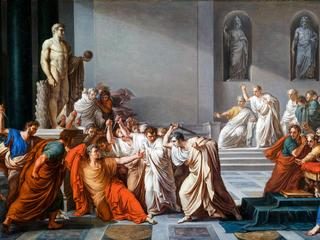 Vincenzo Camuccini, The Assassination of Julius Caesar, painting, c. 1804