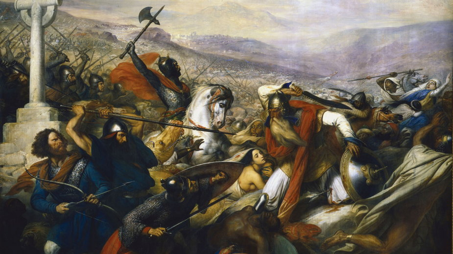 Bitwa pod Poitiers (mal. Charles de Steuben)