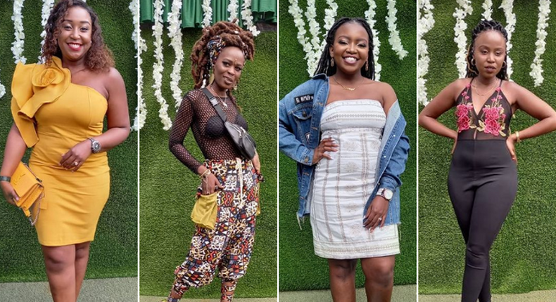 Judge Betty Kyallo, influencer Swiry Nyar Kano, comedian Esther Kazungu and food influencer Miss Nguru at the Pulse Influencer Awards 2021