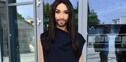 Conchita Wurst przyleciała do Polski i już zadaje szyku