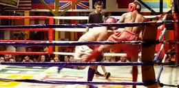 Pijany Polak wszedł na ring z tajskim bokserem? Żal to oglądać!