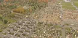 Niezwykły film! Cmentarz nagrany dronem
