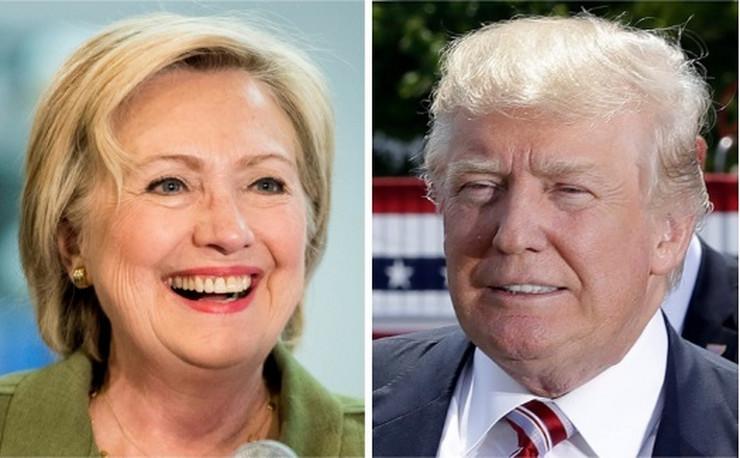 Hilari Klinton i Donald Tramp ap