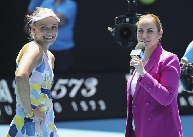 Jelena Dokić sa hrvatskom teniserkom Donom Vekić pre dve nedelje na turniru u Melburnu