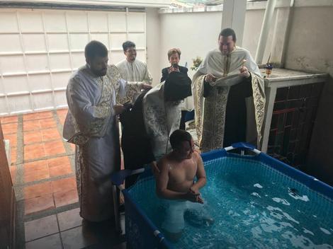 Pravoslavno krštenje u Ekvadoru