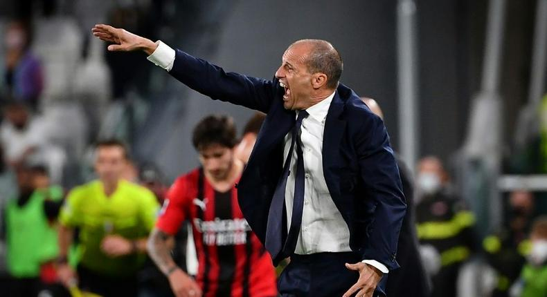 Massimiliano Allegri was livid at his Juventus team's draw with AC Milan on Sunday Creator: Isabella BONOTTO