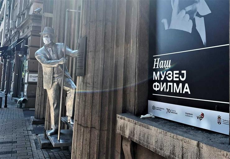 Spomenik Karl Maldenu ispred Jugoslovenske kinoteke