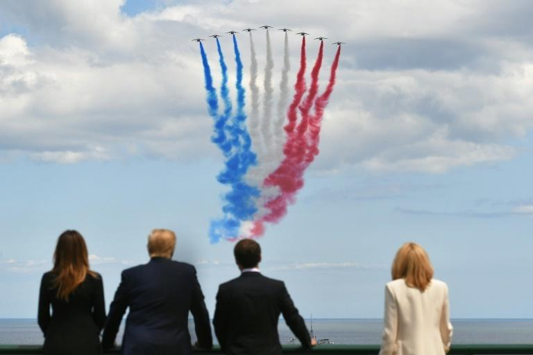 Presidents Donald Trump and Emmanuel Macron and their wives attended a memorial ceremony at Colleville-sur-Mer in northwest France to mark the 75th anniversary of the World War II Allied landings in Normandy.