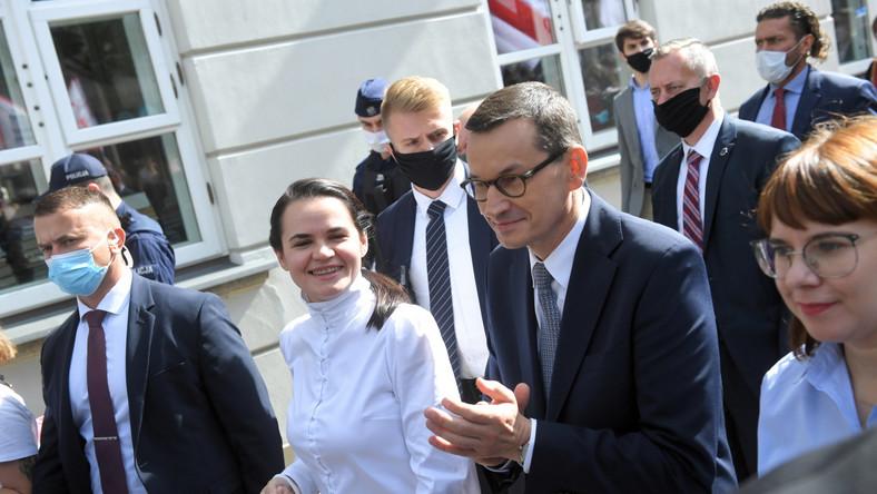 Mateusz Morawiecki, Swiatłana Cichanouska, Olga Kovalkova