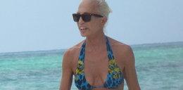 58-letnia Donatella Versace na plaży w bikini