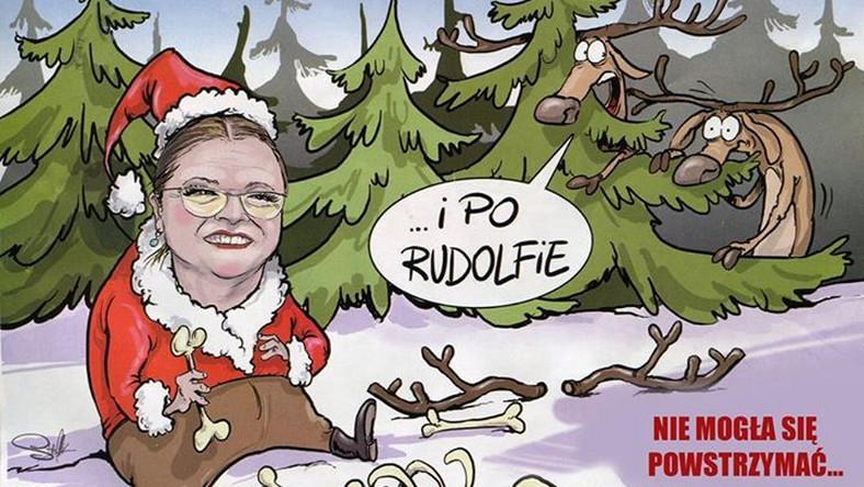 Zajadając sałatkę podczas obrad Sejmu, Krystyna Pawłowicz wywołała prawdziwą burzę w mediach. Internauci nie odpuszczają posłance nawet w Święta.