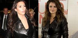 Cruz i Kardashian w skórzanych płaszczach