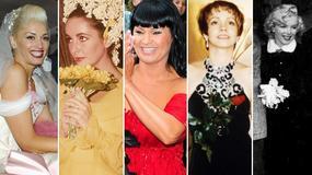 """Biała suknia ślubna? One powiedziały """"tak"""" w kolorowych kreacjach. Która najlepsza?"""