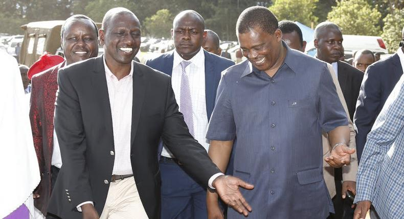 File image of DP William Ruto and National Assembly Speaker Justin Muturi