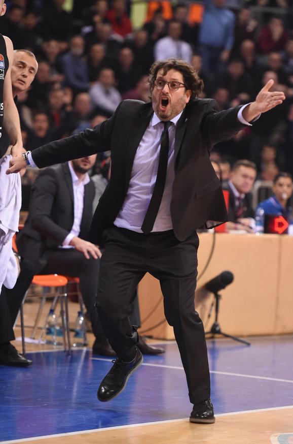 Andrea Trinkijeri, trener Partizana