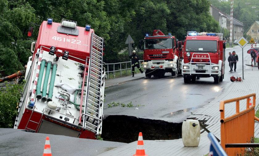Zalane domy i drogi. Ulewy spustoszyły południe Polski