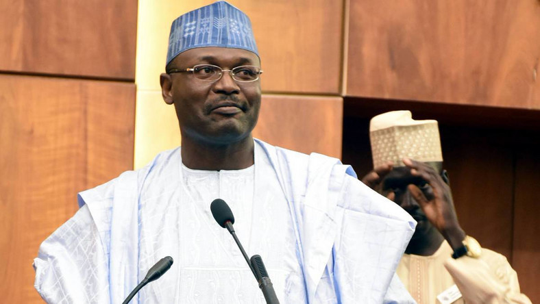 INEC Chairman, Professor Mahmood Yakubu, is for cancelling of votes in areas where there were disruptions (Guardian)