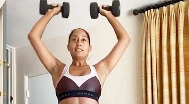 Tracee Ellis Ross, 47, Just Showed Off Her Toned Abs In A New At-Home Workout Instagram Video