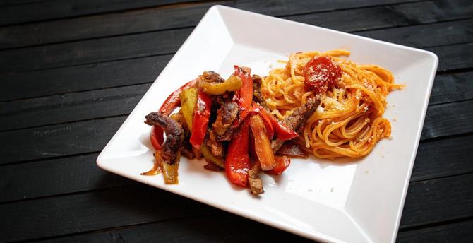 špagete sa mesom