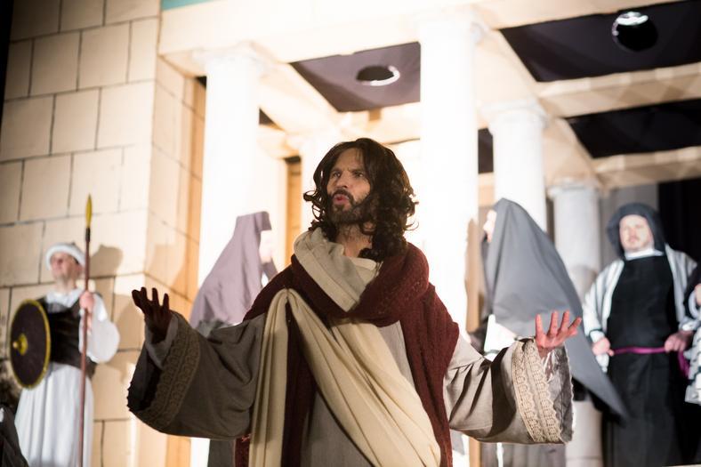 Cezary Łapa jako Jezus