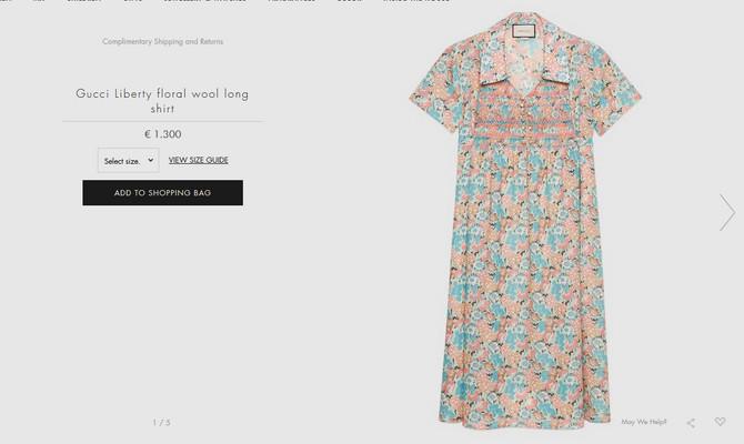 Gucci u ponudi ima i nešto jeftiniju varijantu haljine