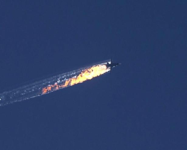 Zestrzelony przez Turcję rosyjski bombowiec.