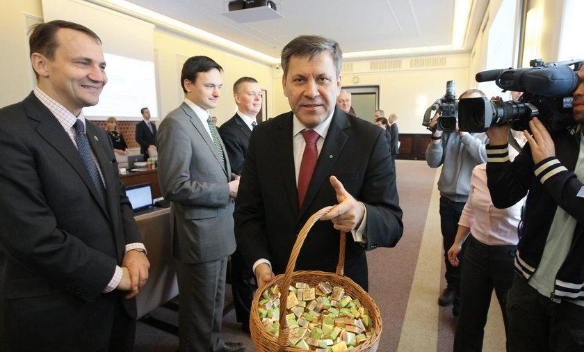 Janusz Piechociński na posiedzeniu rządu